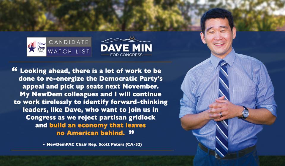 NewDemPAC Adds Dave Min (CA-45) to Candidate Watch List